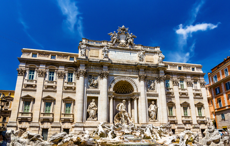 The Palazzo Poli and the Trevi Fountain in Rome, Italy