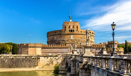 View of Castel SantAngelo in Rome, Italy