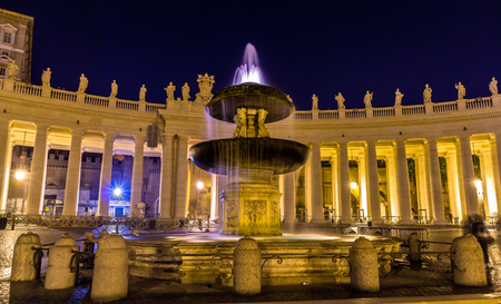 maderno: Northern fountain on St. Peters Square in Vatican City