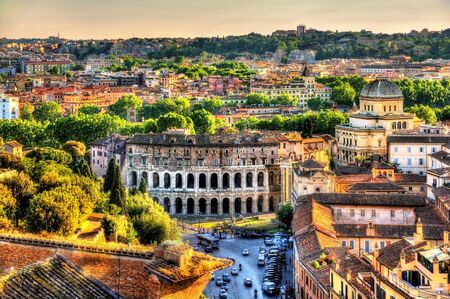 Theatre Marcellus, view from Capitoline Hill - Rome, Italy