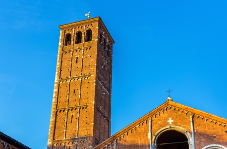 Veiw of the Basilica di SantAmbrogio in Milan