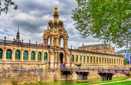 Kronentor or Crown Gate of Zwinger Palace in Dresden, Germany Stock Photo
