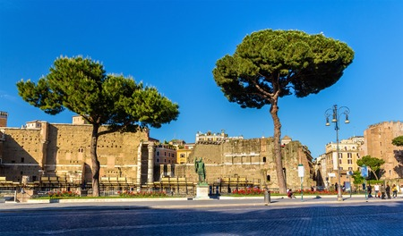 Statue of emperor Nerva in Rome, Italy Stock Photo