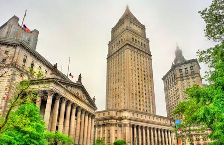 サーグッド マーシャル アメリカ合衆国裁判所、ニューヨーク市、米国のマンハッタン市建物 写真素材