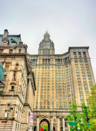 Manhattan Municipal Building in New York City, United States Editorial