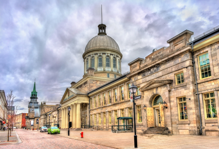 Bonsecours Market in old Montreal - Quebec, Canada. Built in 1860 Stock Photo