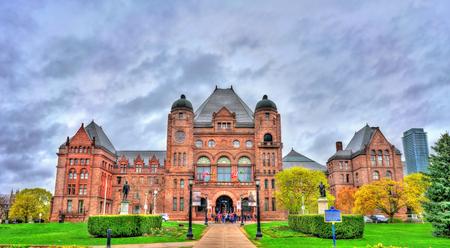 トロントのクイーンズパークでオンタリオ州立法ビル-カナダ 報道画像