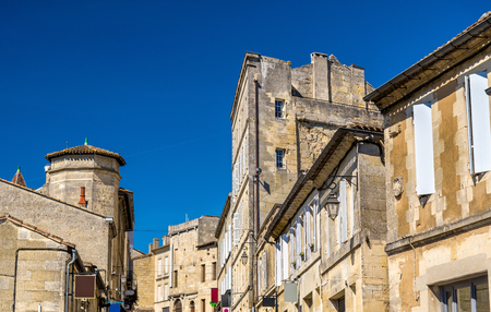 Buildings in Saint-Emilion, a UNESCO heritage site in France, Aquitaine