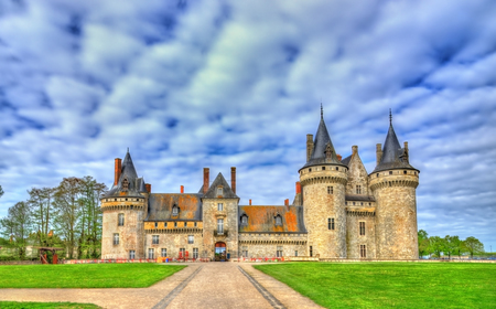 sully: Chateau de Sully-sur-Loire, on of the Loire Valley castles in France, the Loiret department