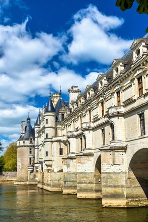 Chateau de Chenonceau on the Cher River - France, the Loire Valley Stock Photo