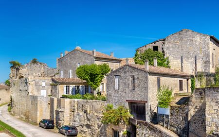 Cityscape of Saint-Emilion town Stock Photo