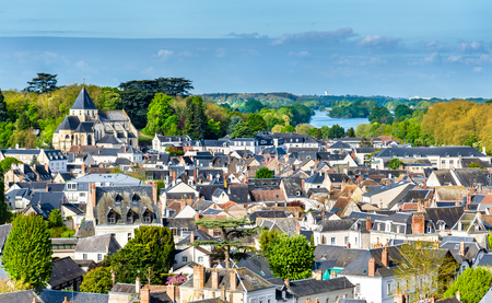 View of the medieval town of Amboise in France - the Loire Valley Imagens
