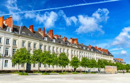 Cours Saint-Andre, a public promenade in Nantes city - France, Loire-Atlantique