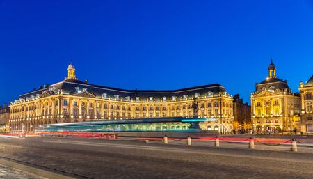 Tram on Place de la Bourse in Bordeaux - France, Gironde