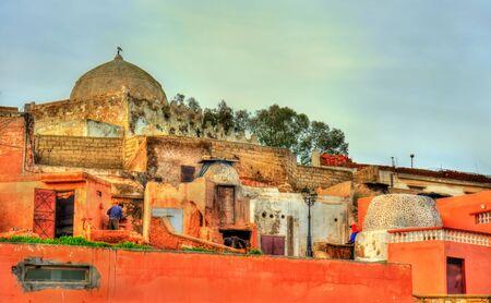 Stadtbild von Safi, einer Stadt im Westen Marokkos am Atlantik. Nordafrika Standard-Bild - 84981499
