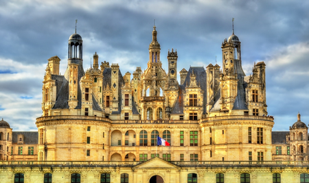Chateau de Chambord, the largest castle in the Loire Valley. A UNESCO world heritage site in France