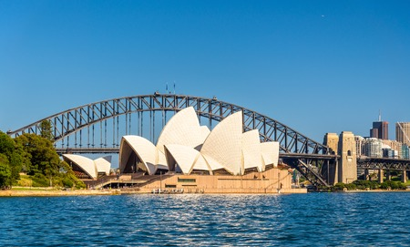 Sydney Opera House and Harbour Bridge - Australia, New South Wales Editorial