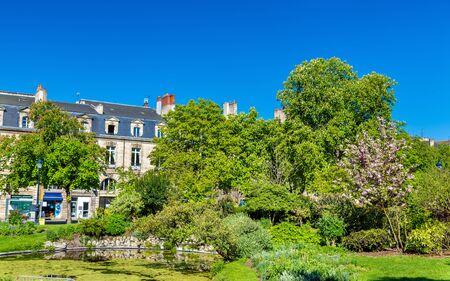 Garden on Place Gambetta in Bordeaux - France