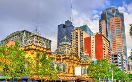 The Princess Theatre and skyscrapers in Melbourne - Australia, Victoria