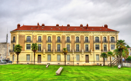 Building in Dax, a town in the Landes Department of France Stock Photo