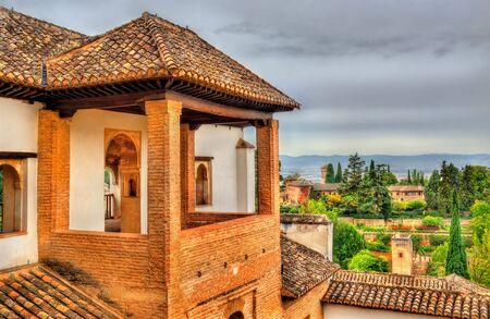 Generalife Palace in Granada - Spain, Andalusia. UNESCO heritage site Stock Photo