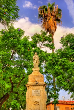 Monument on Capuchinos Square in Malaga - Andalusia, Spain