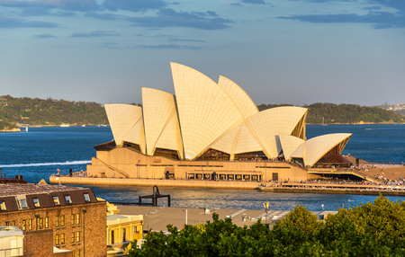 Sydney Opera House, a UNESCO world heritage site in Australia, New South Wales 写真素材