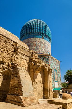 사마르 칸트 - 우즈베키스탄에있는 아시아 정복자 Tamerlane의 구리 아미르 영묘