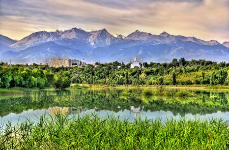 View of Sairan reservoir in Almaty - Kazakhstan
