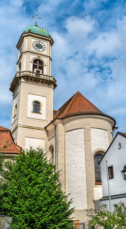 St. Andreas and St. Mang church in Regensburg - Bavaria, Germany