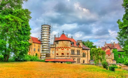 View of Lichtenstein Castle in Baden-Wurttemberg - Germany Stock Photo