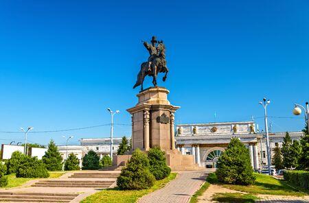 Statue of Ablai Khan in front of Almaty-2 railway station - Kazakhstan