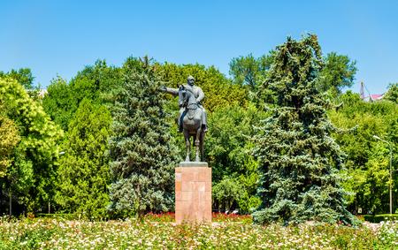 Statue of Mikhail Frunze in Bishkek - Kyrgyzstan Stock Photo