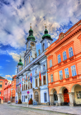 Town Hall of Ceske Budejovice in Czech Republic