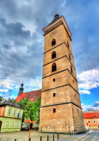 budejovice: Black Tower in Ceske Budejovice, Czech Republic