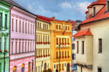 Buildings in the old town of Trebic, Czech Republic