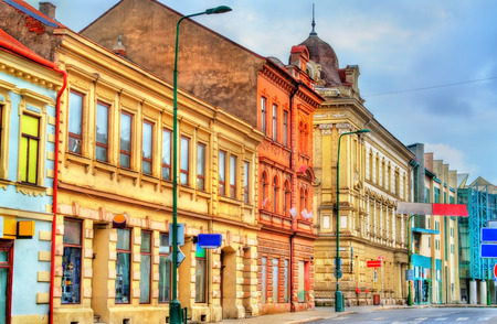 jewish community: Buildings in the old town of Trebic, Czech Republic