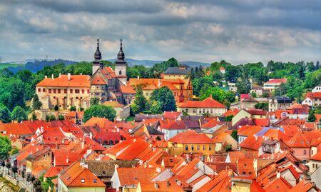 Panorama of Trebic, a UNESCO world heritage site in Czech Republic