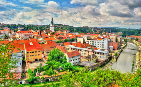 Panorama of Trebic, a UNESCO world heritage site in Czech Republic