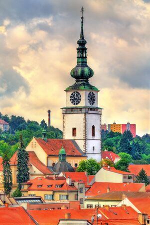 St. Martin church in Trebic, Czech Republic