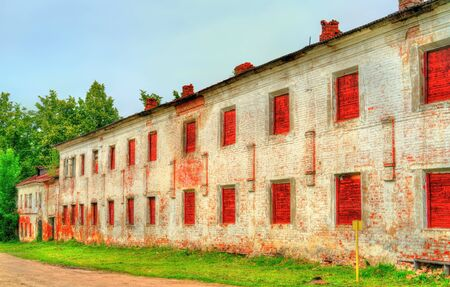 veliky: Old brick wall of a monastery in Rostov Veliky, Russia