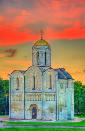 Saint Demetrius Cathedral in Vladimir. Built in the 12th century, it is a UNESCO world heritage site in Russia.