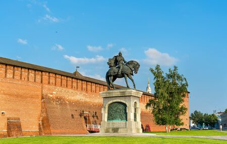 princes street: Equestrian monument to Dmitry Donskoy in Kolomna, Moscow Region, Russia