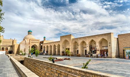 Oude gebouwen in de oude stad van Boukhara, Oezbekistan