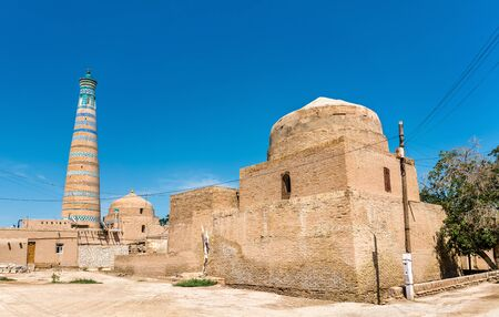 Bogbonly Mosque at Itchan Kala fortress in the historic center of Khiva.