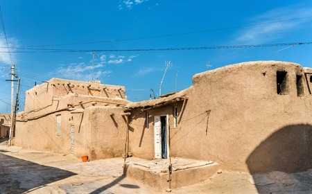 Traditional houses at Itchan Kala fortress in the historic center of Khiva.