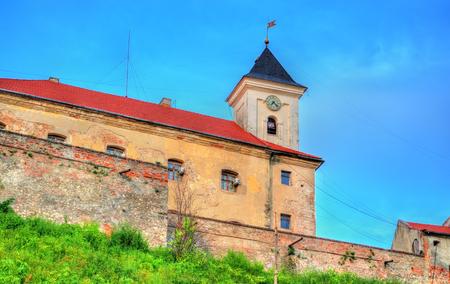 Details of the Palanok Castle in Mukachevo, Ukraine