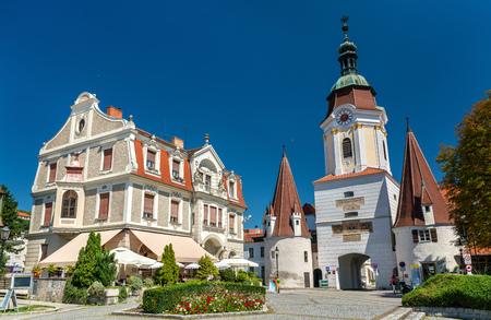 Steiner Tor, Krems an der Donau, 오스트리아의 Wachau 계곡에있는 15 세기 문