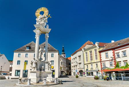 Holy Trinity Column in Krems an der Donau, Austria