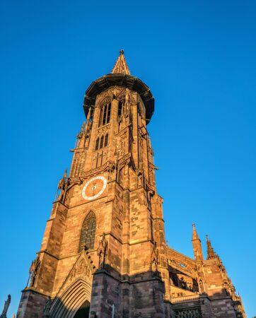 Freiburg Minster, the cathedral of Freiburg im Breisgau, southwest Germany